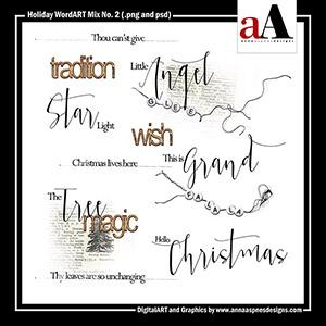 Holiday WordART Mix No. 2