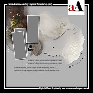 Incandescence Artsy Layered Template