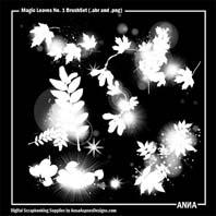 Magic Sparkles Leaves No. 1 BrushSet
