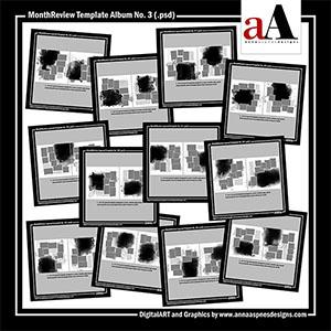 MonthReview Template Album No. 3