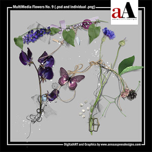MultiMedia Flowers No. 9