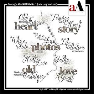 Nostalgia WordART Mix No. 1