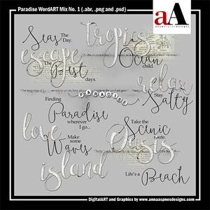 Paradise WordART Mix No. 1