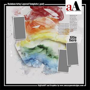 Rainbow Artsy Layered Template