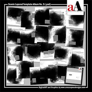 Scenic Layered Template Album No. 5