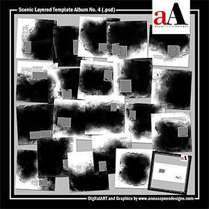 Scenic Layered Template Album No. 4