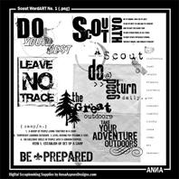 Scout WordART No. 1