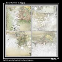 Snowy MapPrints No. 1