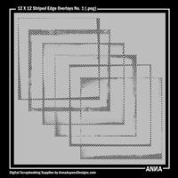12 X 12 Striped Edge Overlays No. 1