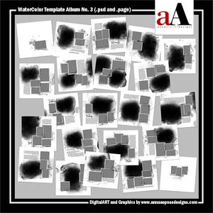 WaterColor Template Album No. 3 (Artisan Software Users)