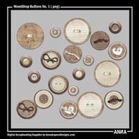 WoodShop Buttons No. 1