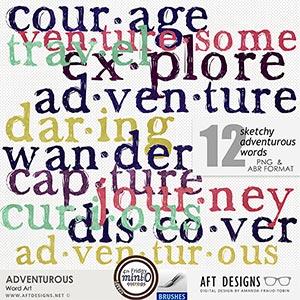 Adventurous Word Art