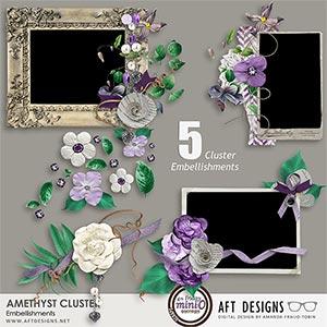 Amethyst Cluster Embellishments
