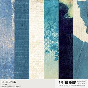 Blue Linen Paper