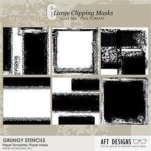 Paper Templates  - Grungy Stencils