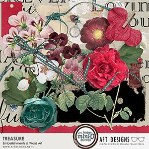 Treasure Embellishments & Word Art