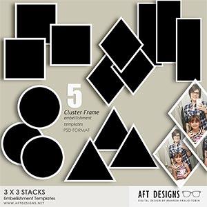 Embellishment Templates - 3x3 Stacks