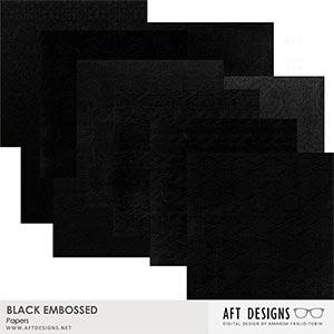 Embossed - Black Papers