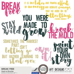 Break Free Word Art & Brushes