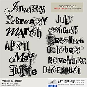 Brush Set: Mixed Months