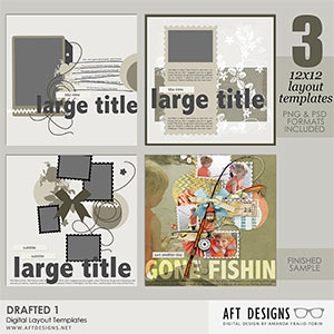 Digital Layout Templates - Drafted 1