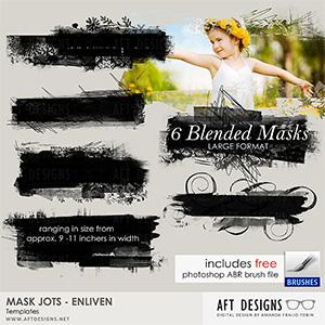 Mask Jots - Enliven Embellishment Templates