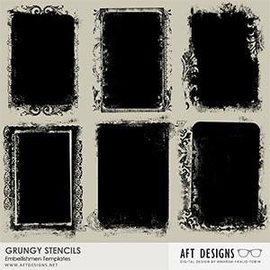 Masks - Grungy Stencils Embellishment Templates