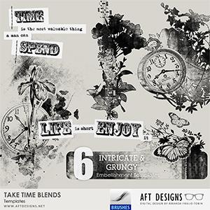 Take Time Blends - Embellishment Templates