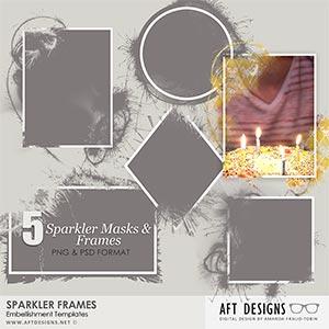 Embellishment Templates - Sparkler Frames