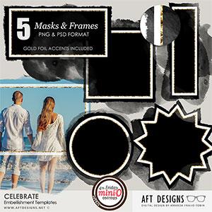 Embellishment Templates: Celebrate Frames