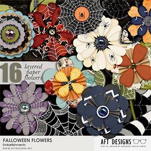 Falloween Flower Embellishments
