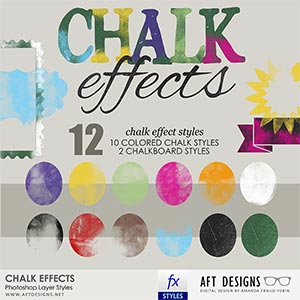 Layer Styles: Chalk Effects