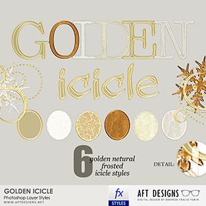 Layer Styles: Golden Icicle