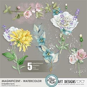 Magnificent Watercolor Embellishments