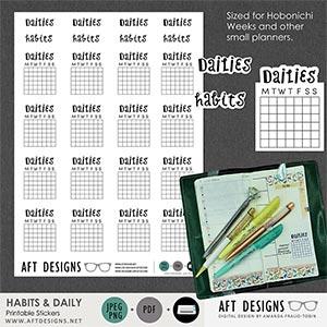 Stickers: Habits & Dailies Hobonichi Weeks
