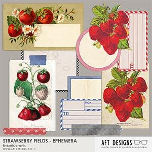 Strawberry Fields - Ephemera Embellishments