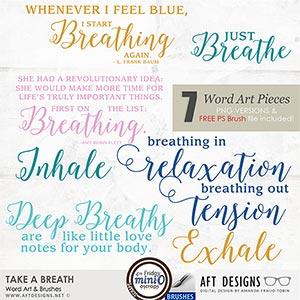 Take A Breath Word Art