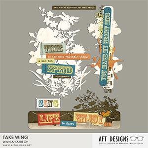 Take Wing Add On Word Art