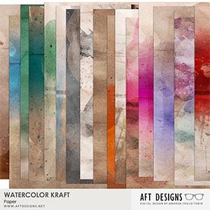 Watercolor Kraft Paper