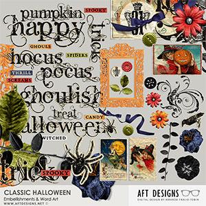 Classic Halloween Embellishments & Word Art
