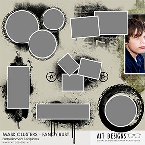 Embellishment Templates - Mask Clusters - Fancy Rust