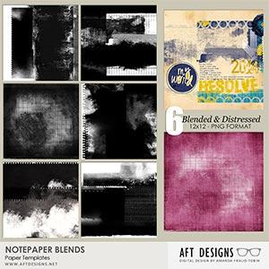 Paper Templates - Notepaper Blends