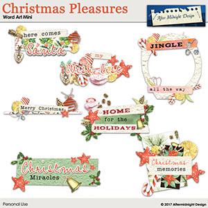 Christmas Pleasures Word Art Mini