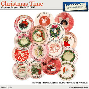 Christmas Time Cupcake Toppers