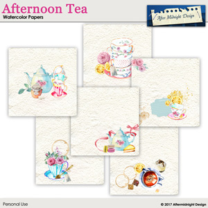 Afternoon Tea Watercolor Papers