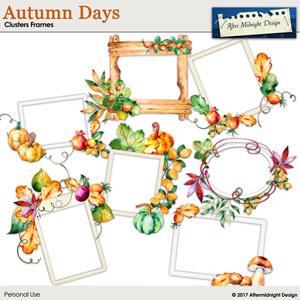 Autumn Days Cluster Frames