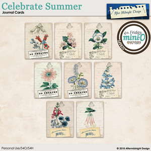 Celebrate Summer Journal Card 1