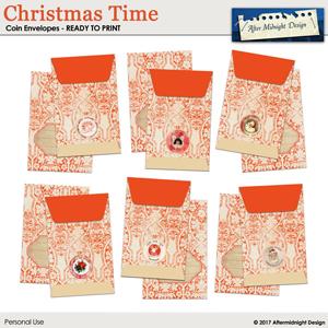 Christmas Time Coin Envelopes