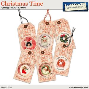 Christmas Time Gift Tags