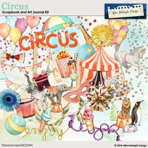 Circus Scrapbook and Art Journal Kit